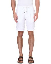 Vilebrequin - White Linen Bermuda Shorts for Men - Lyst