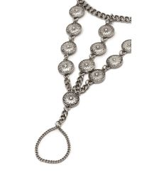 Forever 21 - Metallic Floral Etched Foot Chain - Lyst