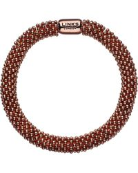 Links of London | Red Effervescence Star Rose-Gold Plated Bracelet | Lyst