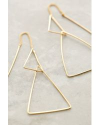 Anthropologie | Metallic Threaded Angle Earrings | Lyst
