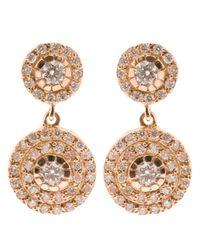 Ileana Makri | Pink Double 'solitaire' Diamond Earrings | Lyst