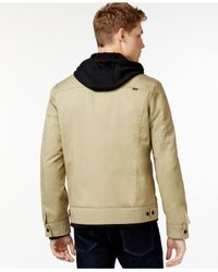 Hurley - Natural Hooded Trucker Jacket for Men - Lyst