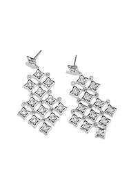 David Yurman | Metallic Quatrefoil Chandelier Earrings With Diamonds | Lyst