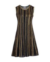 M Missoni - Metallic Short Dress - Lyst