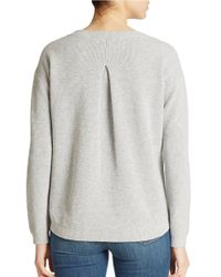 Lord & Taylor - Gray Combed Cotton Pullover - Lyst