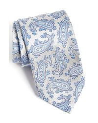 David Donahue - Blue Paisley Silk Tie for Men - Lyst