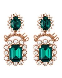 Mawi | Green 'emerald Slogan' Earrings | Lyst