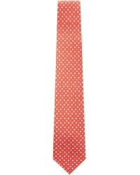 Ferragamo - Red Gancio Foulard Silk Tie for Men - Lyst