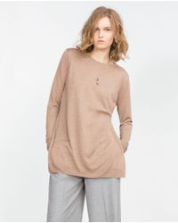 Zara | Brown Oversize Sweater | Lyst