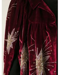 Saint Laurent - Embroidered Velvet Jacket - Lyst