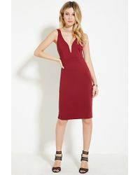 Forever 21 | Purple Strappy Sheath Dress | Lyst