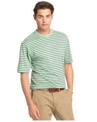 Izod - Green Feeder Stripe Crew-neck T-shirt for Men - Lyst
