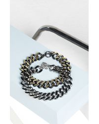 BCBGMAXAZRIA | Metallic Plate Chain Necklace | Lyst