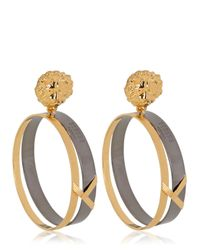 Versus | Metallic Metal Lion Earrings | Lyst
