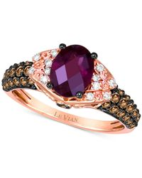 Le Vian | Pink Chocolatier® Rhodolite Garnet (1-1/3 Ct. T.w.) And Diamond (1/2 Ct. T.w.) Ring In 14k Rose Gold | Lyst