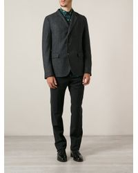 Dolce & Gabbana - Gray Herringbone Blazer for Men - Lyst