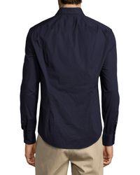 Vince - Blue Basic Long-sleeve Woven Shirt for Men - Lyst