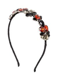 Marni | Black Crystal Embellished Silk Crepe Headband | Lyst