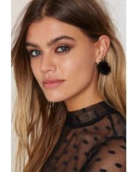 Nasty Gal | Black Puff Up The Volume Earrings | Lyst