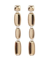 Coast - Natural Mixed Plate Earrings - Lyst