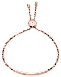Michael Kors | Pink Bar Logo Slide Bracelet | Lyst