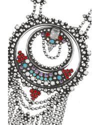DANNIJO - Metallic Camryn Oxidized Silver-plated Swarovski Crystal Necklace - Lyst
