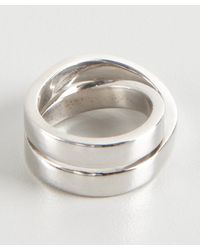 Cartier - Metallic White Gold Crossover Estate Ring - Lyst