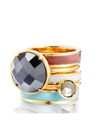 Astley Clarke | Metallic Swivelling Centime Ring | Lyst