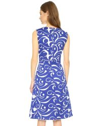 BCBGMAXAZRIA | Abilene Dress - Bt Larkspur Blue | Lyst