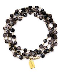 "Ela Rae - Black Diana Hypersthene Coin Necklace, 30"" - Lyst"