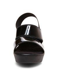 Steven by Steve Madden | Black Biianca Patent Platform Sandals | Lyst