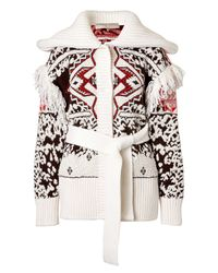 Emilio Pucci | Natural Tribal Printed Mohair-wool Cardigan - White | Lyst