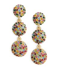 R.j. Graziano | Metallic Multi-color Pave Ball Drop Earrings | Lyst