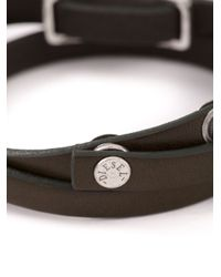DIESEL   Brown Logo Plaque Bracelet for Men   Lyst