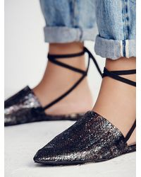 Free People | Black Freefall Flat | Lyst