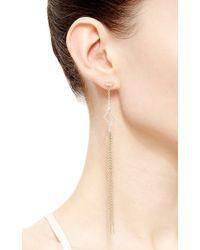 Paige Novick - Metallic Asymmetrical Diamond Shaped Celia Earrings - Lyst
