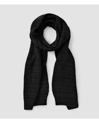 AllSaints - Black Spinn Scarf for Men - Lyst