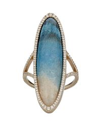 Monique Péan | Metallic Elongated Oval-faced Ring | Lyst