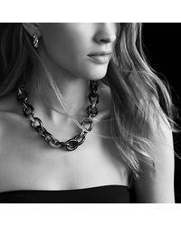 David Yurman - Metallic Sculpted Cable Small Earrings - Lyst
