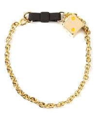 Marc By Marc Jacobs - Metallic 'Bow Tie With Dice' Bracelet - Lyst