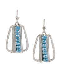 Kenneth Cole | Metallic Beaded Wire-wrapped Drop Earrings | Lyst
