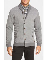 Ted Baker - Gray 'berdnor' Shawl Collar Cardigan Sweatshirt for Men - Lyst