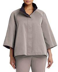 Lafayette 148 New York - Gray Zora Couture Cloth Topper - Lyst