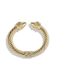 David Yurman | Metallic Renaissance Bracelet With Diamonds In Gold | Lyst