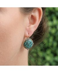 Sylva & Cie - Green Agate, Emerald And Diamond Drop Earrings - Lyst