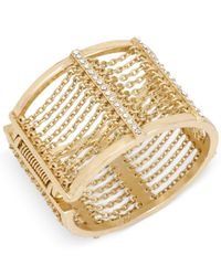 Kenneth Cole - Metallic Gold-tone Multi-chain Bangle Bracelet - Lyst