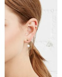 Forever 21 | Metallic Rhinestone Mixed Earring Set You've Been Added To The Waitlist | Lyst