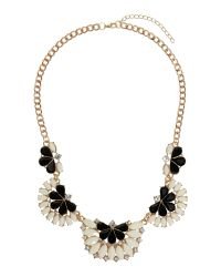 Mikey - Natural Half Moon Enamel Linked Necklace - Lyst