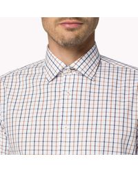 Tommy Hilfiger | White Cotton Poplin Fitted Shirt for Men | Lyst