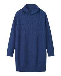 Toast | Blue Merino Rib Textured Tunic | Lyst